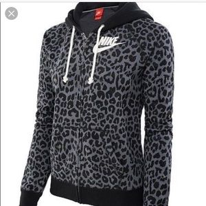 Leopard zip up hoodie by Nike